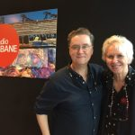 with Richard Fidler, Brisbane ABC studio